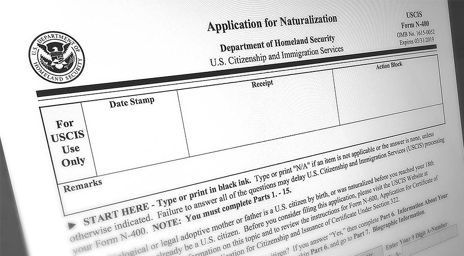 Application for Naturalization/Form N-400 for Harrisonburg DUI attorney