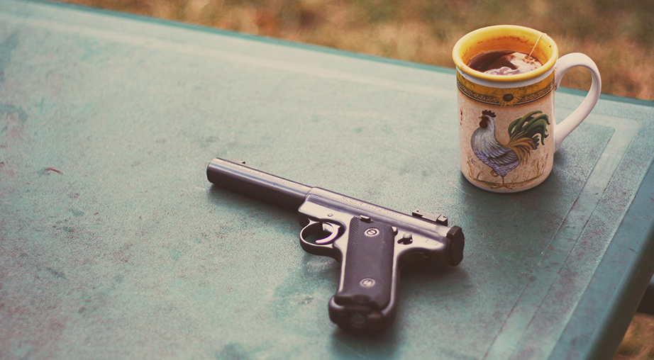 A gun on the table